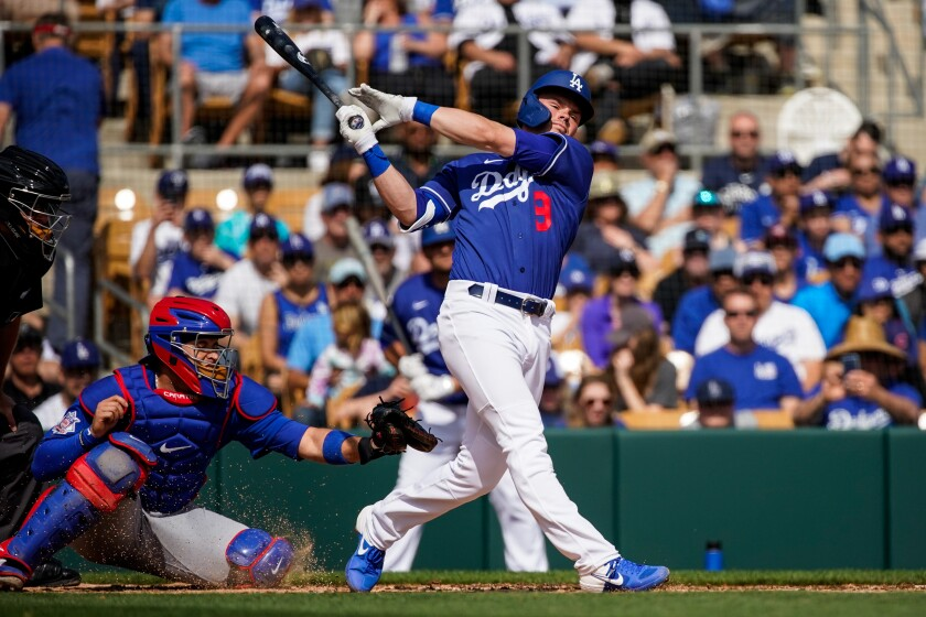 Gavin Lux spent most of the offseason training at Dodger Stadium in an effort to improve his chances of playing a full season with the club.