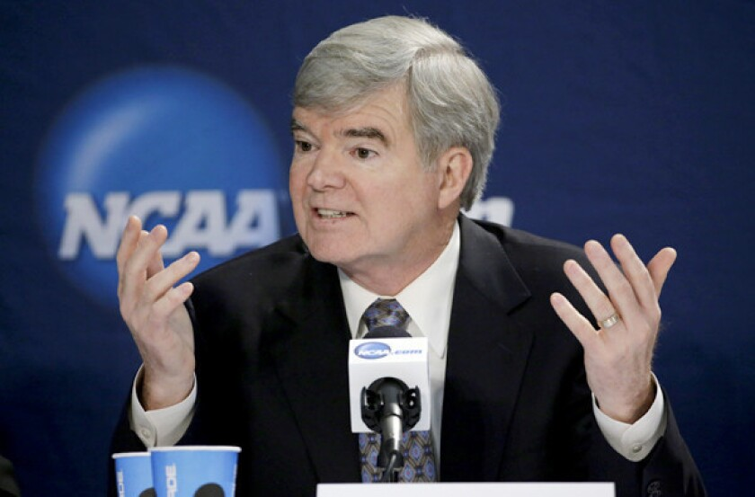 NCAA chief Mark Emmert calls unionizing college athletes 'ridiculous'