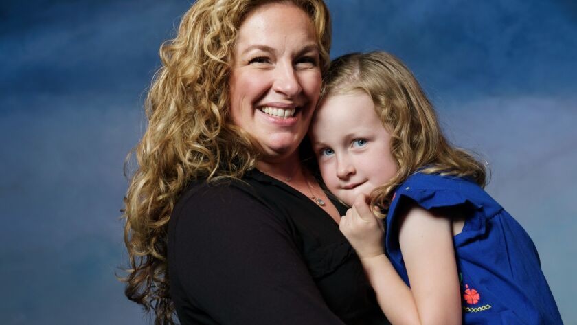 LOS ANGELES, CALIF. -- THURSDAY, JULY 5, 2018: Molly Smith Metzler and her 5-year-old daughter Cora