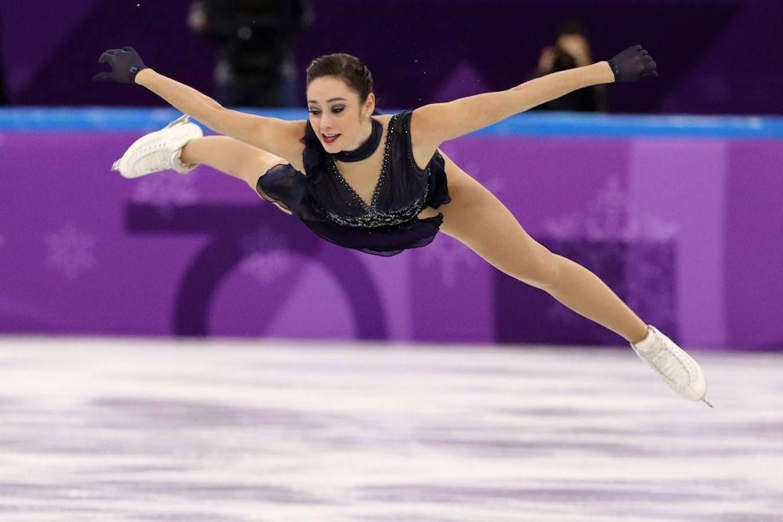 Kaetlyn Osmond, de Canadá, compite en patinaje artístico de los Juegos Olímpicos de Invierno.