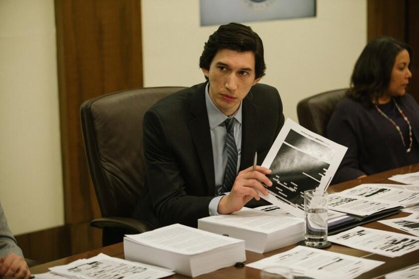 "Adam Driver in a scene from ""The Report"""