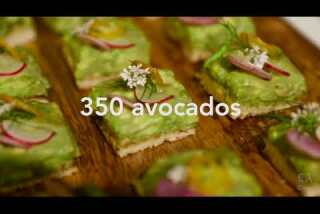 What goes into Wolfgang Puck's menu for the Oscars Governors Ball? Caviar, avocados, gold dust ...