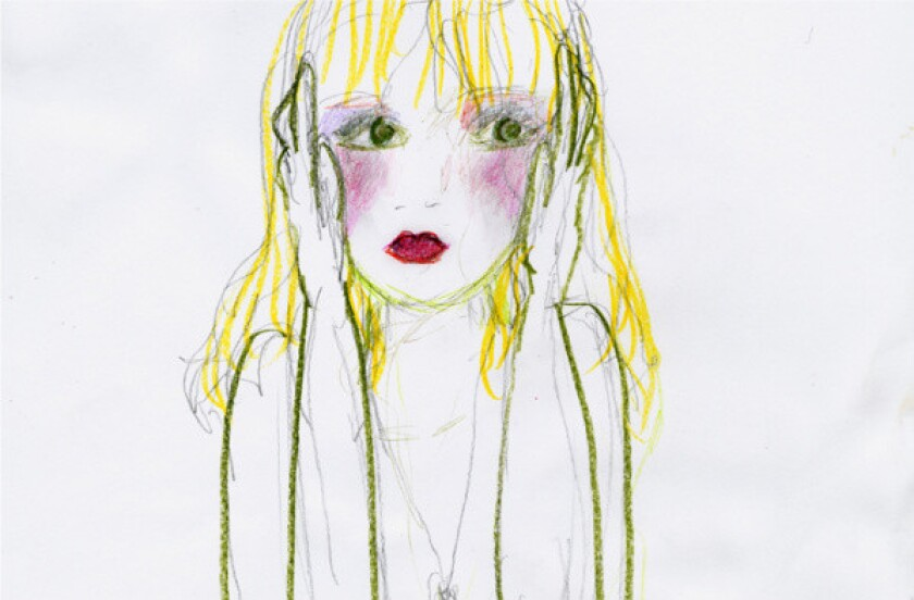 A drawing by Courtney Love.