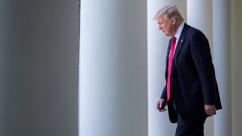 US President Donald J. Trump announces that the US is withdrawing from the Paris climate accord