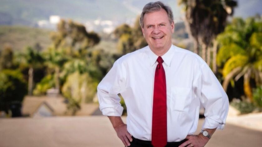 San Marcos Mayor Jim Desmond has enter the race to replace Supervisor Bill Horn. Courtesy photo