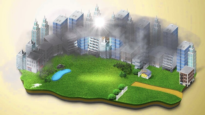 Dutch artist Daan Roosegaarde, who lives part-time in China, has proposed a smog-free park using vaccum cleaner technology, illustrated here.