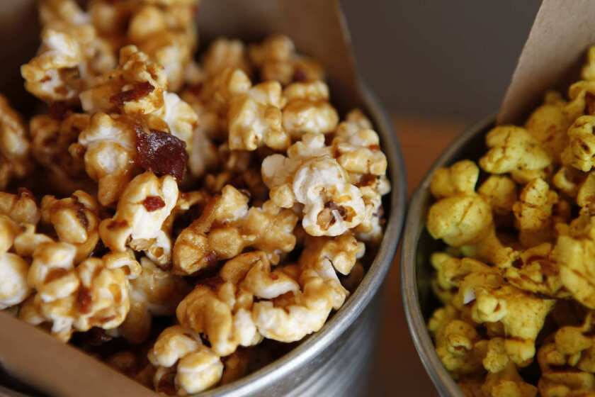 One of the most popular items on the menu is the beer and bacon caramel corn.