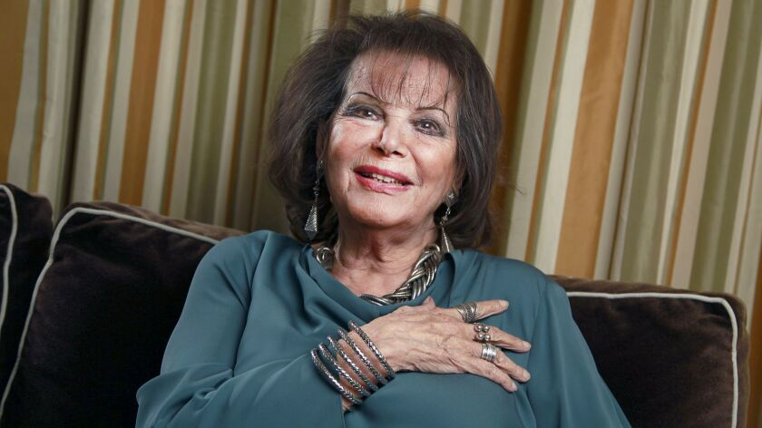 BEVERLY HILLS, CA., JANUARY 30, 2019 ---Claudia Cardinale is an Italian Tunisian film actress and se