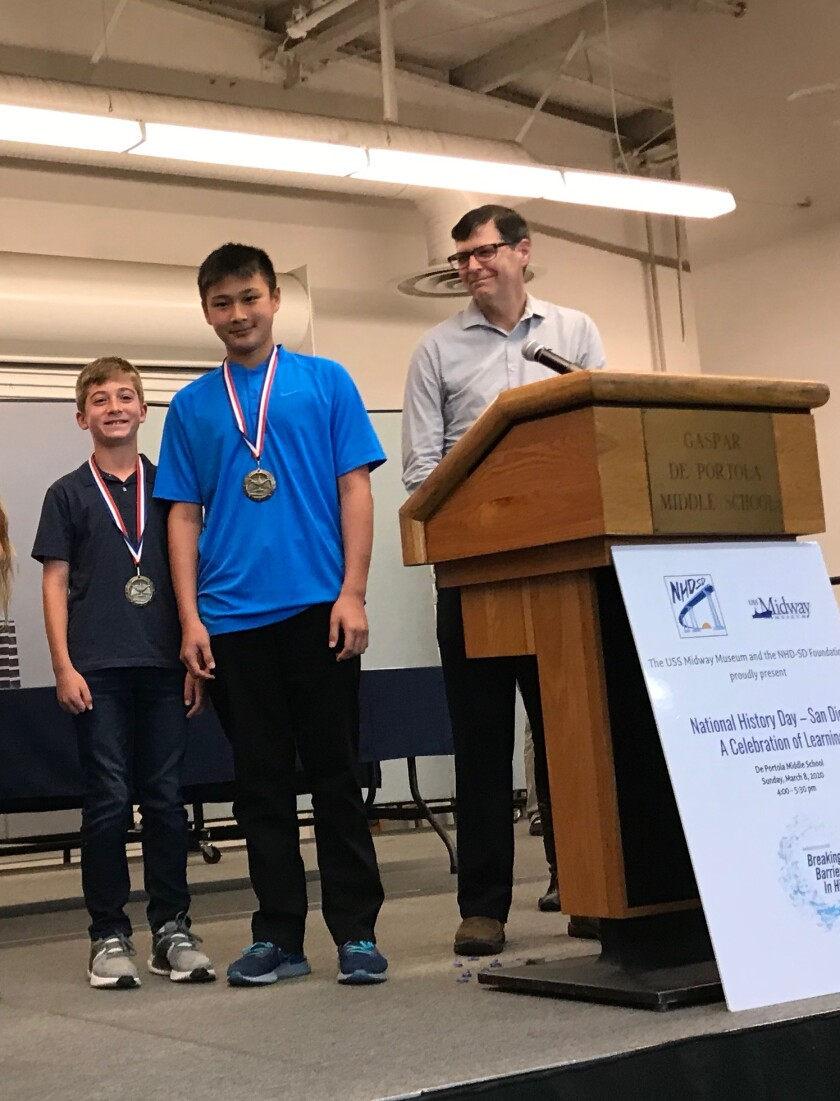 Max Strauss and Ryan Kang earned top honors in the Group Website division.