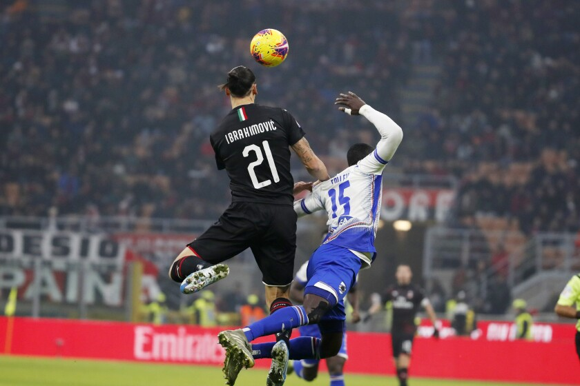 Milan held by Sampdoria to 0-0 in Ibrahimovic's return - The San ...