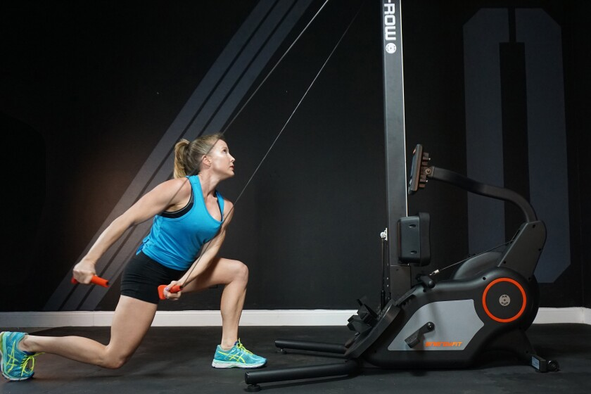 The Energy Fit is a two-in-one workout machine.