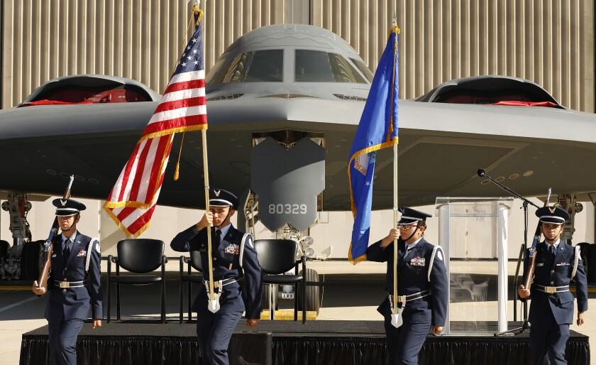 Ceremony honoring B-2 bomber