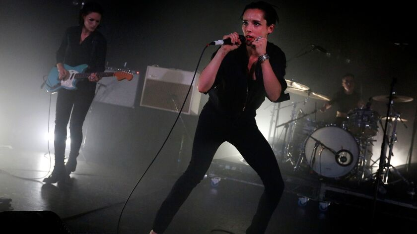 Savages perform at the Roxy in 2015.