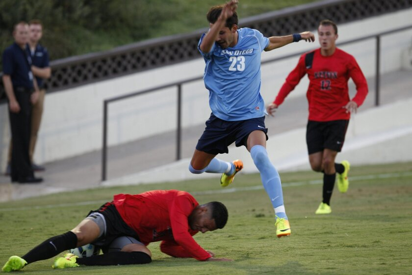 The USD men's soccer team has a chance on Friday to clinch a berth in the College Cup.