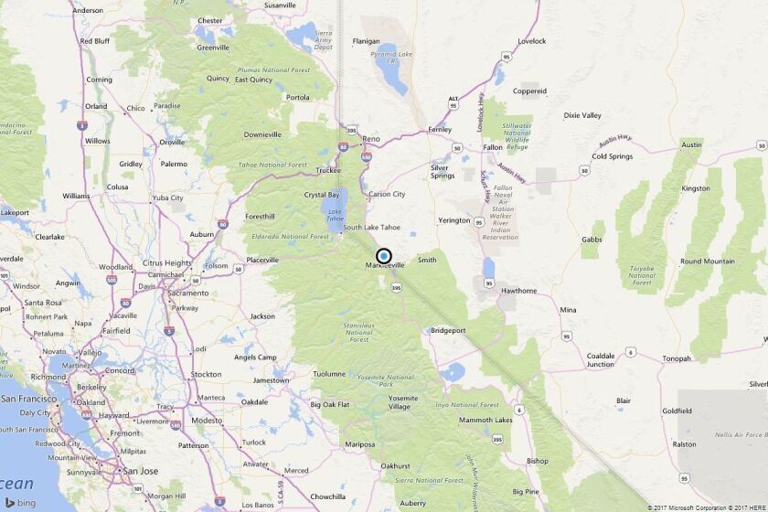 Map shows the approximate location of the epicenter of Tuesday's magnitude 3.9 earthquake.