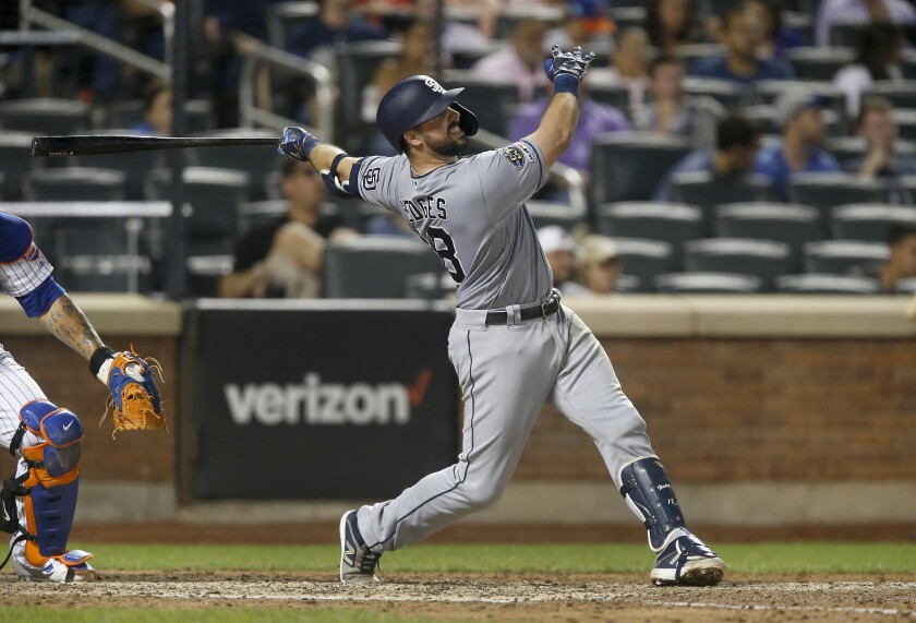 Padres catcher Austin Hedges knows he needs to improve his offense.