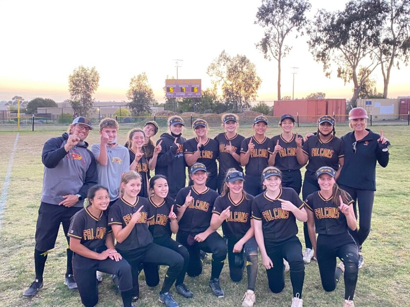 The Torrey Pines softball team won the Coastal League title.