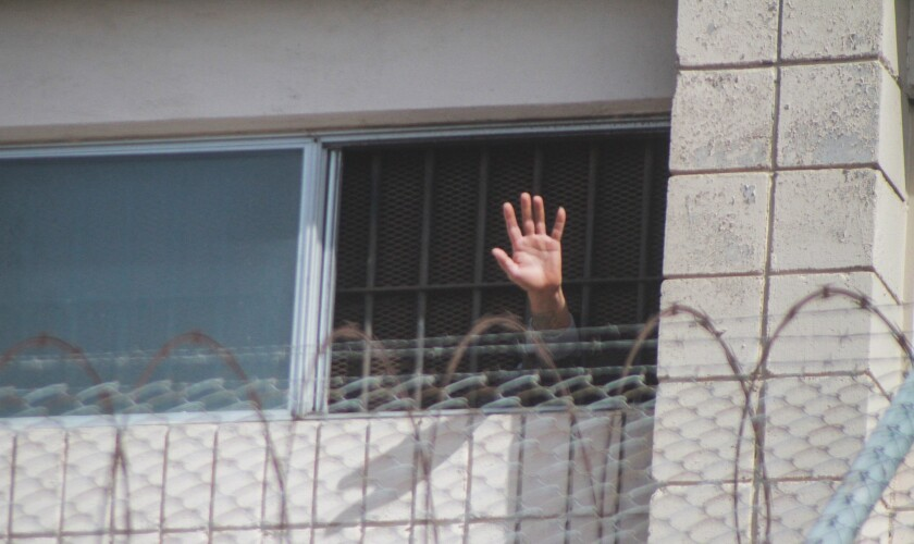 Registro este miércoles de la mano de un interno, durante los disturbios
