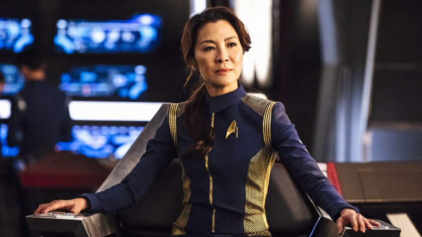 """Michelle Yeoh in a scene from """"Star Trek: Discovery"""" on CBS."""