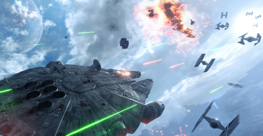 """""""Star Wars Battlefront"""" brings the fantasy space opera to next-gen consoles, putting the emphasis on blasting."""