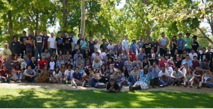 A meetup of Orange County redditors in 2012.