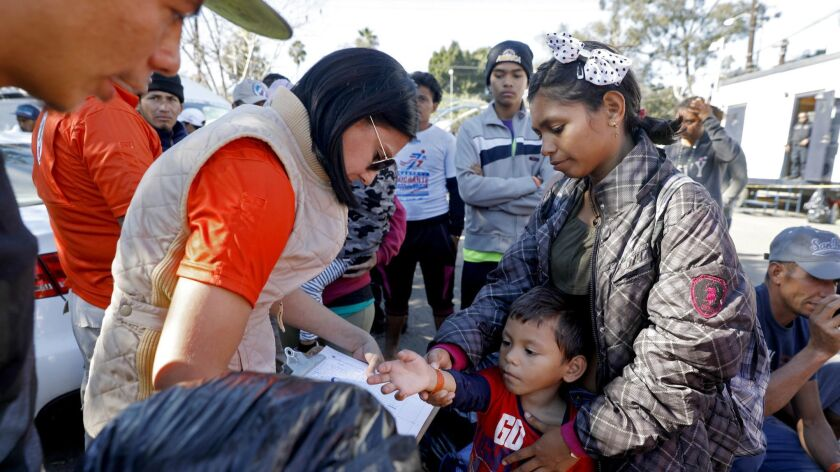 "TIJUANA, BAJA CALIF. -- MONDAY, NOVEMBER 26, 2018: ""There is nothing here,"" says Cinthia Garcia, 22,"