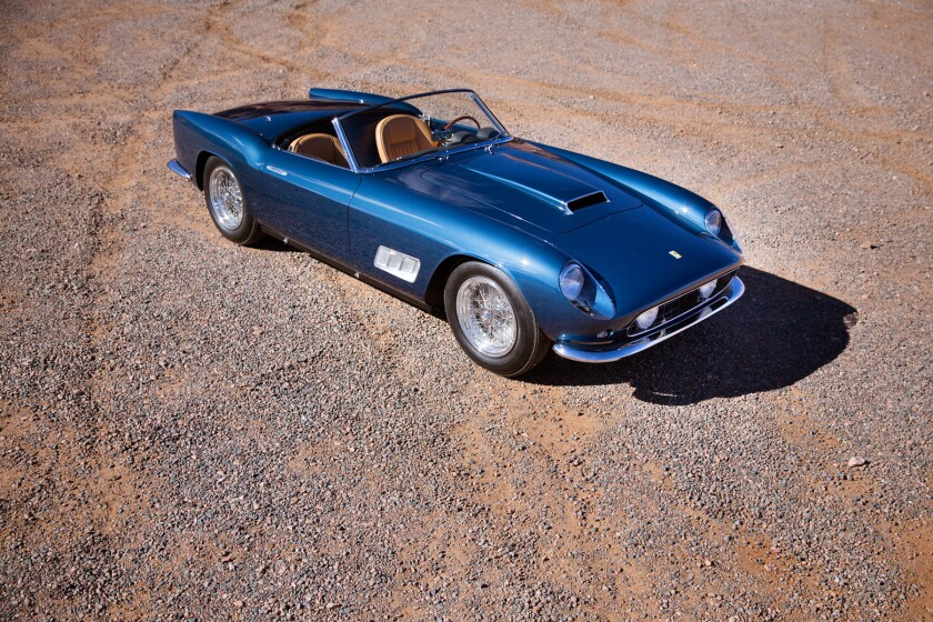 Gooding & Co. sold this 1958 Ferrari 250 GT California LWB Spider for $8.25 million, making it the most expensive car sold during the five days of auctions in Arizona.