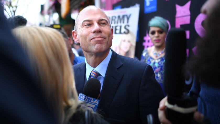 WEST HOLLYWOOD, CALIFORNIA MAY 23, 2018-Stormy Daniel's lawyer Michael Avenatti is interviewed by re