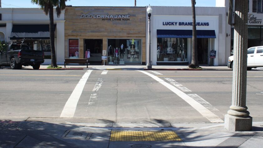 Girard Avenue between Silverado and Wall streets in the Village could get a blinking lighted crosswalk and vegetation.