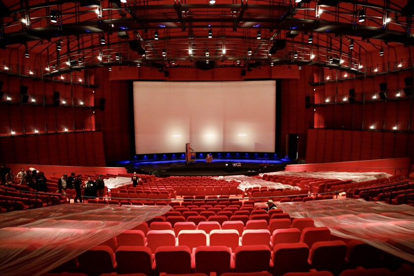The Academy Museum's 1,000-seat David Geffen Theater is nearly ready for opening night.