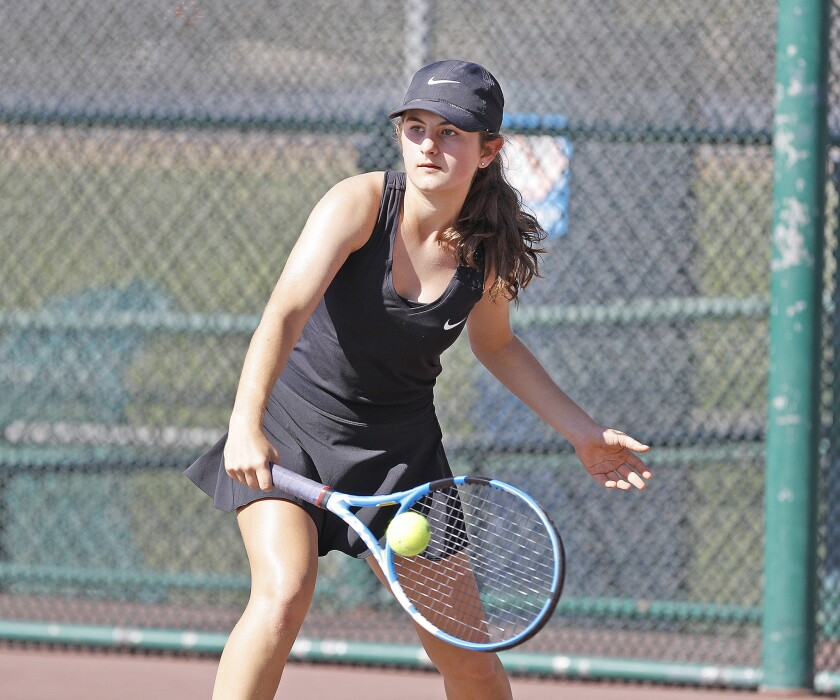 Photo Gallery: Glendale vs. Burbank in Pacific League girls' tennis at Burbank High School