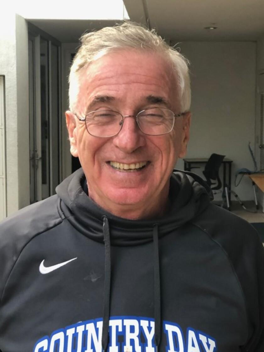 Retired La Jolla Country Day School history teacher and soccer coach Jerry Fleischhacker