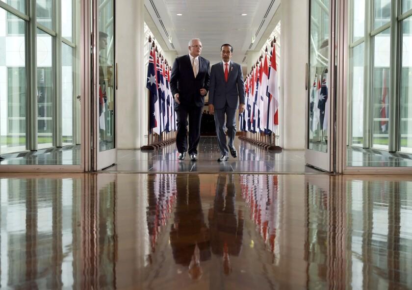Australian Prime Minister Scott Morrison and Indonesian President Joko Widodo