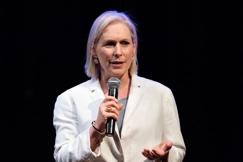 BROOKLYN, NY, UNITED STATES - 2018/08/09: U.S. Senator Kirsten Gillibrand (D-NY) at a town hall meeting at Pratt Institute in Brooklyn, New York.