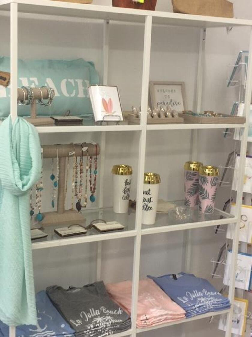 A variety of water bottles, wall decor, jewelry, greeting cards and gifts are available at Blue Apparel, 1237 Prospect St., Suite M, La Jolla. (858) 454-2583. blueapparel.com