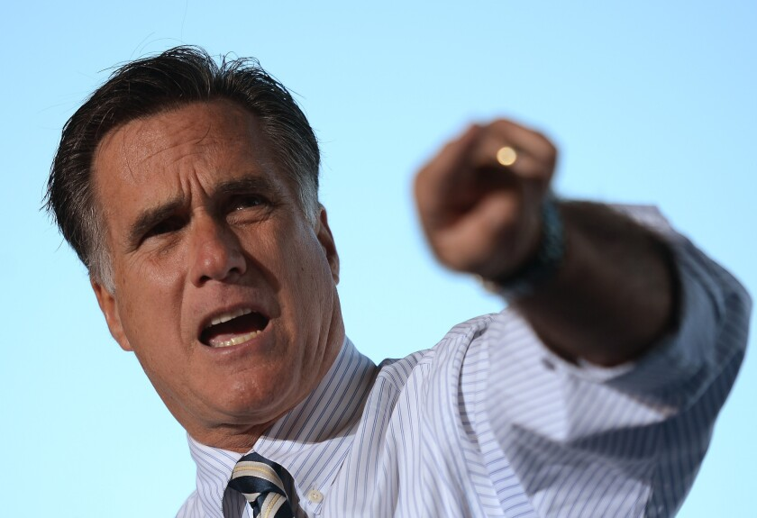 Romney resumes stumping, but doesn't criticize Obama