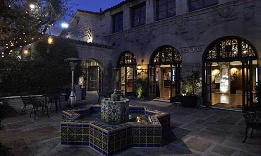 The courtyard at the Geffen Playhouse in Westwood