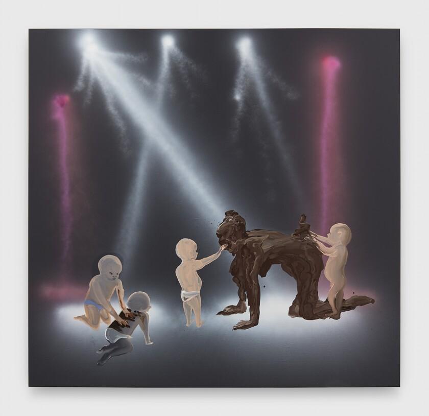 """S— Mom (Disco Babies),"" 2019, by Tala Madani."