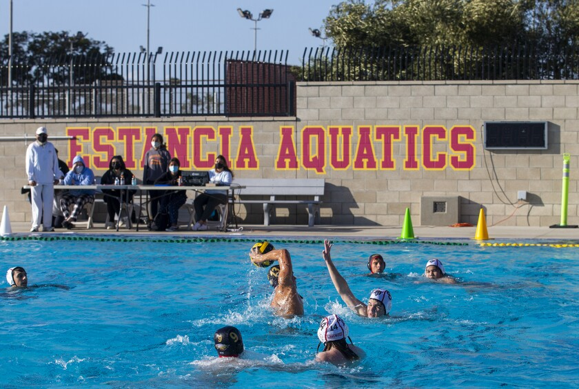 The Estancia High boys' water polo team is now 3-0 after Wednesday's win.