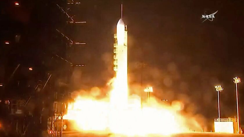 A United Launch Alliance Delta II rocket lifts off carrying the Joint Polar Satellite System-1 (JPSS