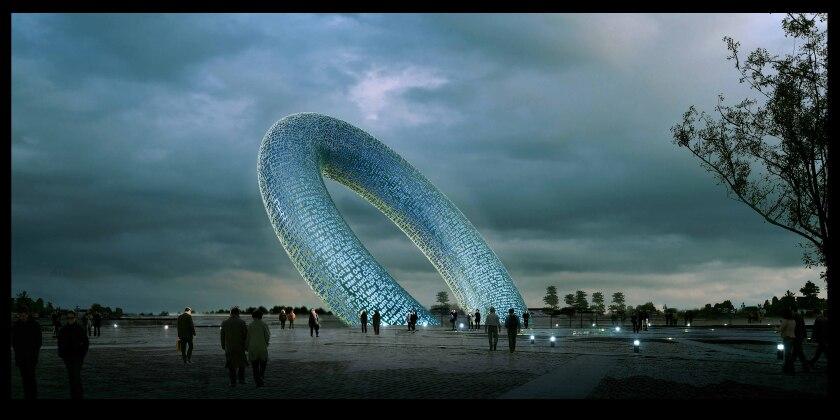 Directions (Zero), un ejemplo de obra de arte virtual de realidad aumentada de Mohammed Kazem