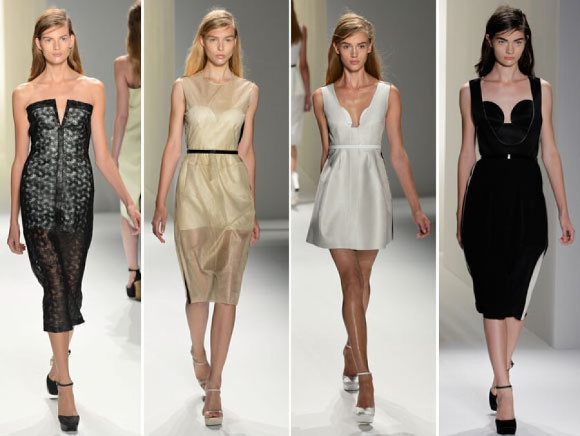 Looks from the Calvin Klein spring-summer 2013 collection shown during New York Fashion Week.