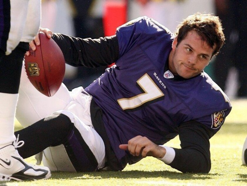 Kyle Boller started his NFL career with the Baltimore Ravens