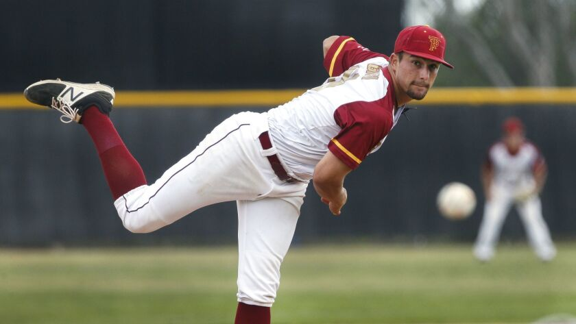 Torrey Pines senior Joey Magrisi pitched a section-record 542/3 consecutive scoreless innings this year.