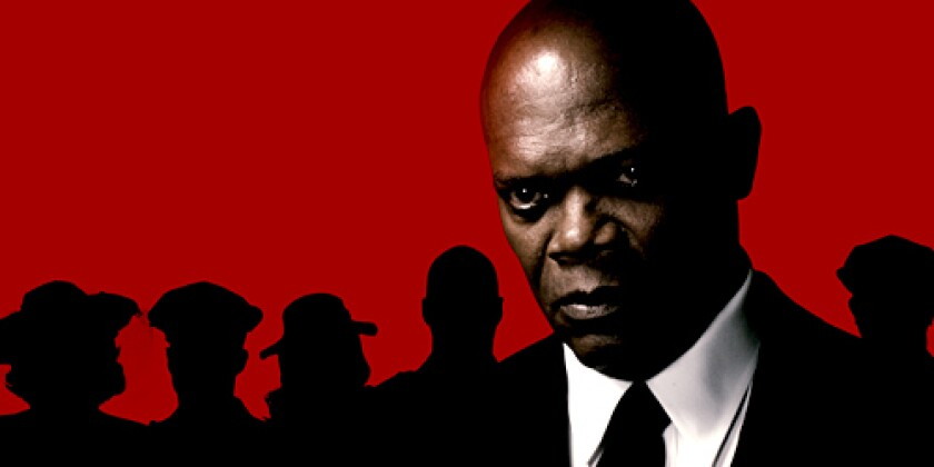 VILLAINOUS: Samuel L. Jackson plays the Octopus, who creates and then is stuck warring with the Spirit