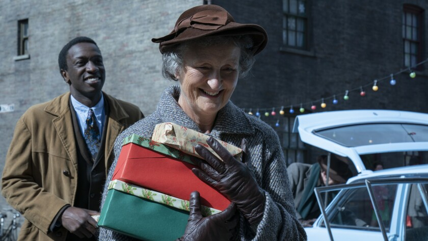 "Zephryn Taitte and Georgie Glen in ""Call the Midwife Holiday Special"" on PBS."
