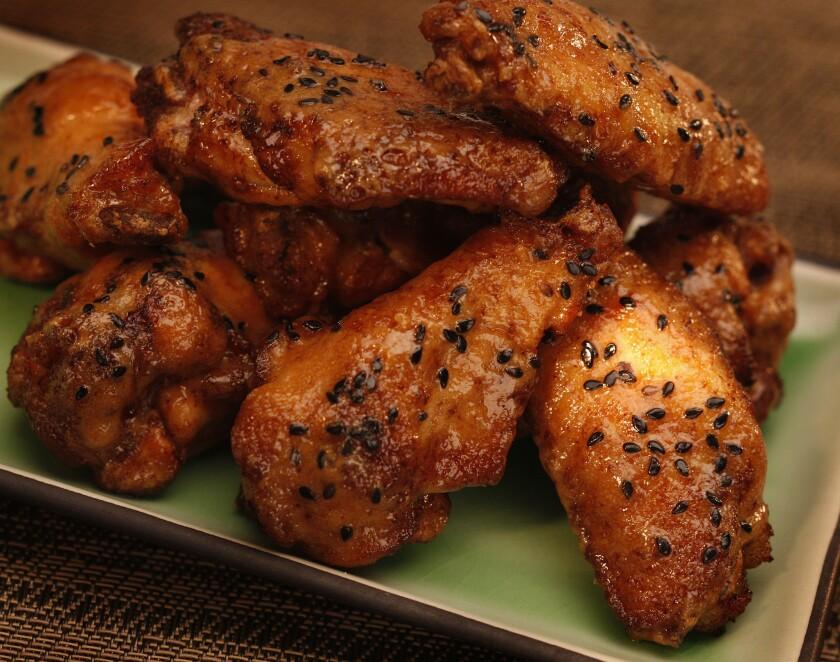 Thai peanut chicken wings