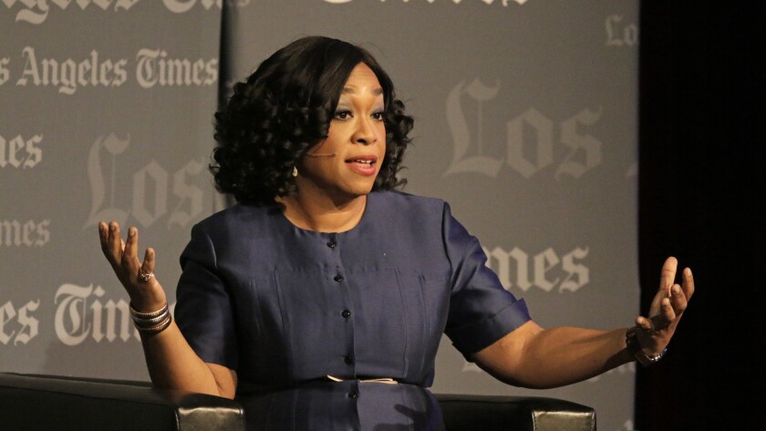 LOS ANGELES. NOV. 16 , 2015. LA Times staff writer Sasha Frere-Jones talks to Shonda Rhimes at USC i