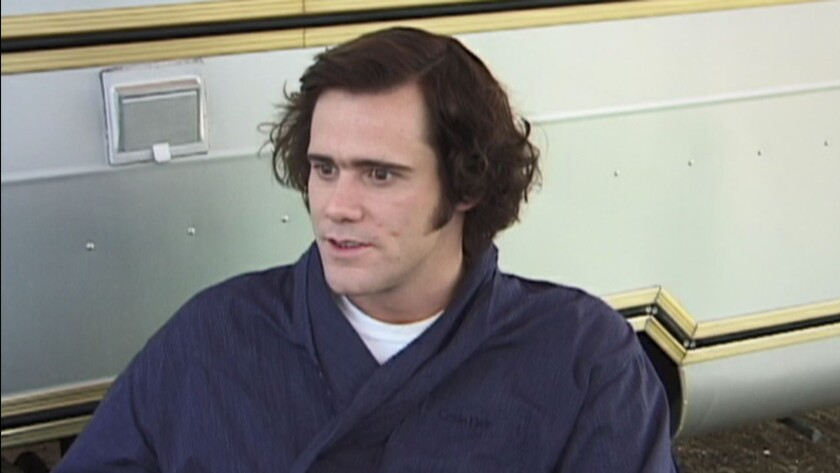 """Jim Carey in a scene from the documentary movie """"Jim and Andy: The Great Beyond -- Featuring a Very"""