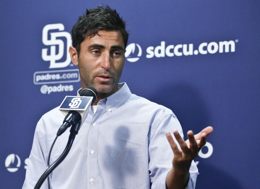 Padres General Manager A.J. Preller notes the World Series-winning Chicago Cubs connected on multiple targets in their rebuilding efforts.